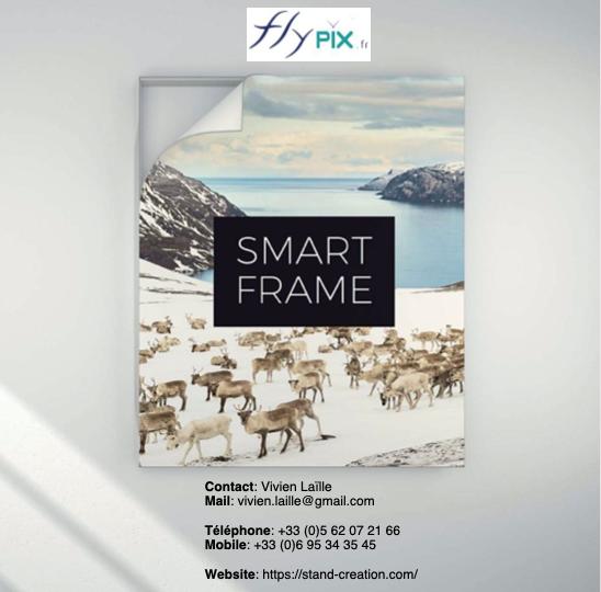 Catalogue SMART FRAME pour vos stands et expositions.