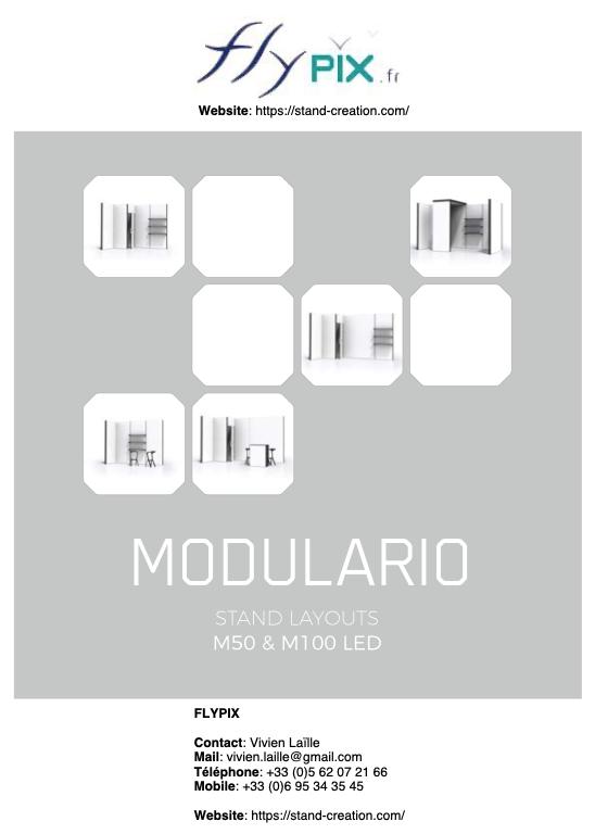 Catalogue des modules de stands modulaires et PLV MODULARIO.
