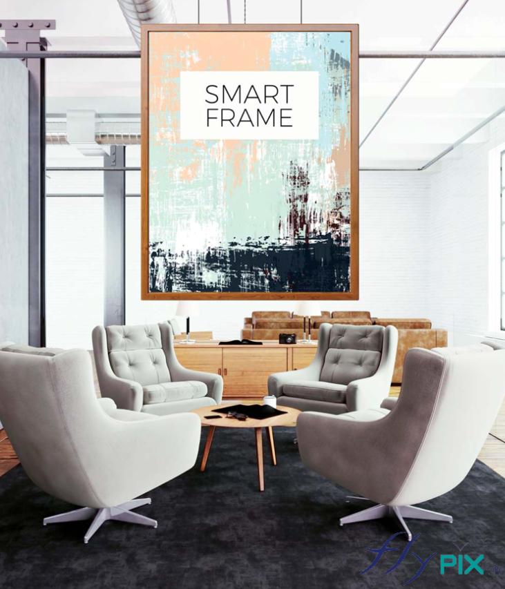 Salle de réunion affichage PLV SMART FRAME